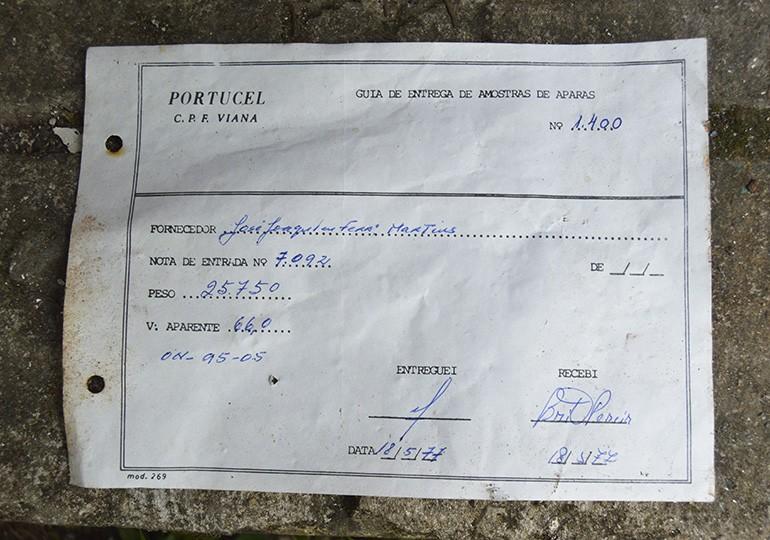 Documentos das antigas minas da Portucel